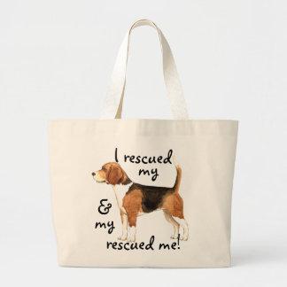 Rescue Beagle Large Tote Bag