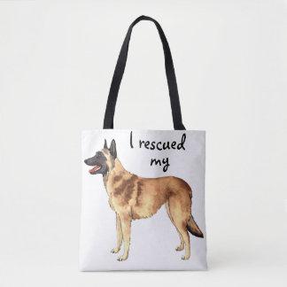 Rescue Belgian Malinois Tote Bag