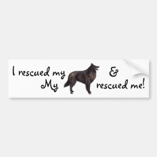 Rescue Belgian Sheepdog Bumper Sticker
