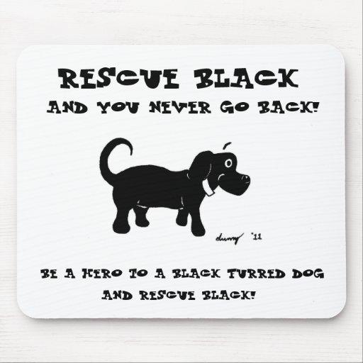 Rescue Black Dogs Mousepad