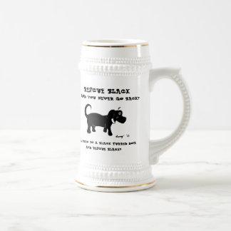 Rescue Black Dogs Stein Beer Steins
