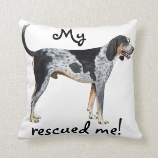 Rescue Bluetick Coonhound Throw Cushions