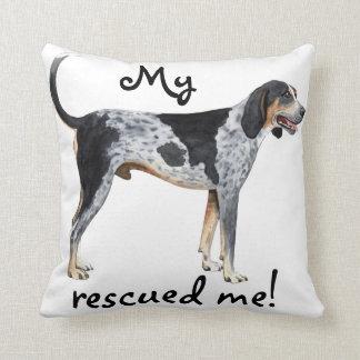 Rescue Bluetick Coonhound Throw Pillow