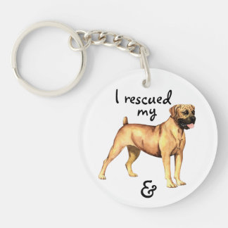 Rescue Boerboel Double-Sided Round Acrylic Key Ring