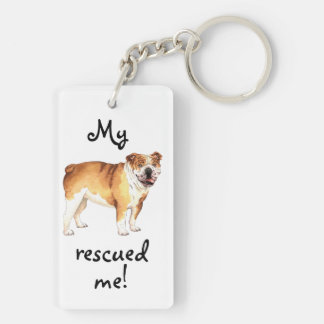 Rescue Bulldog Key Ring