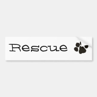 Rescue Bumper Sticker