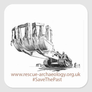 Rescue design products square sticker