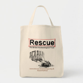 Rescue design products grocery tote bag