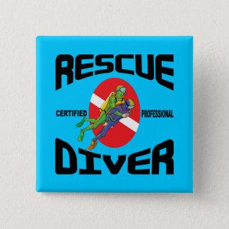 Rescue Diver 15 Cm Square Badge