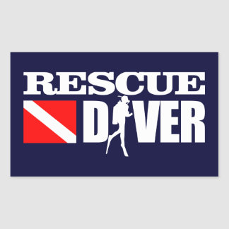 Rescue Diver 2 Rectangular Stickers
