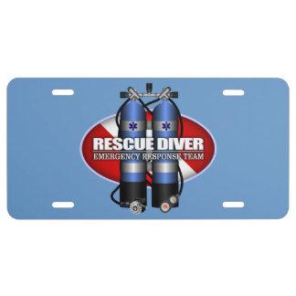 """""""Rescue Diver"""" License Plate"""