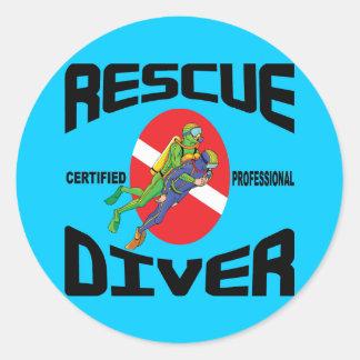 Rescue Diver Round Sticker