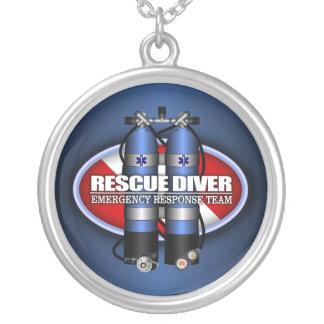 Rescue Diver (ST) Round Pendant Necklace