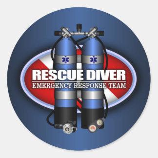 Rescue Diver (ST) Round Sticker