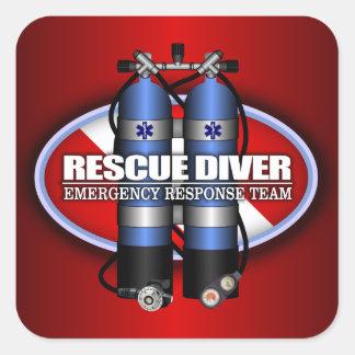 Rescue Diver (ST) Square Sticker