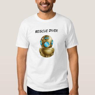 Rescue Diver T Shirt - Brass Helmet image