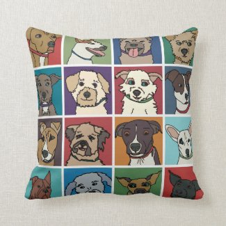 Rescue Dog Cartoon Cushion