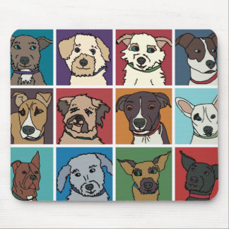 Rescue Dog Cartoon Mouse Pad
