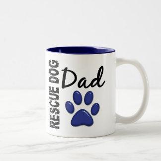 Rescue Dog Dad 2 Two-Tone Mug