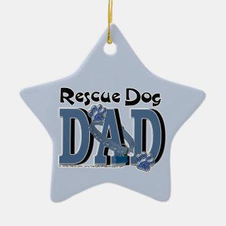 Rescue Dog DAD Ceramic Star Decoration