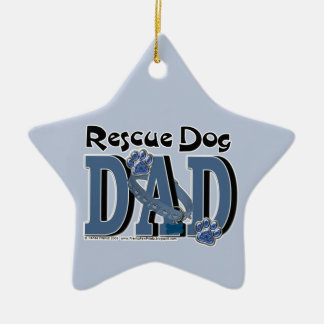 Rescue Dog DAD Christmas Ornament