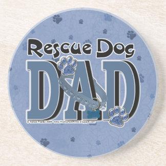 Rescue Dog DAD Beverage Coaster