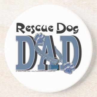 Rescue Dog DAD Drink Coaster