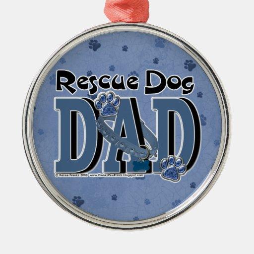 Rescue Dog DAD Ornament