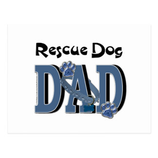 Rescue Dog DAD Postcard
