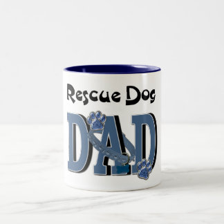 Rescue Dog DAD Two-Tone Coffee Mug