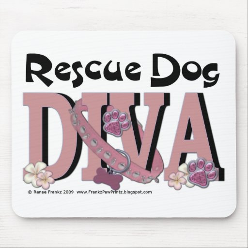 Rescue Dog DIVA Mousepad