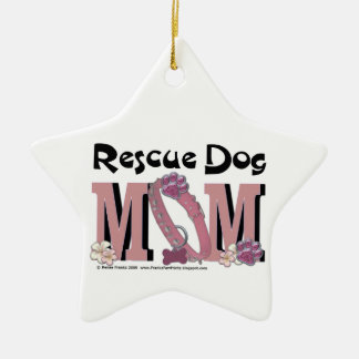 Rescue Dog MOM Christmas Ornament