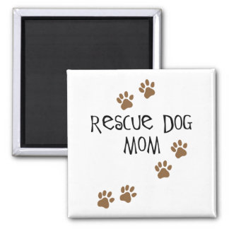 Rescue Dog Mom Magnet