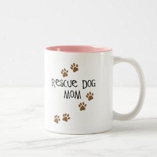 Rescue Dog Mom Coffee Mugs