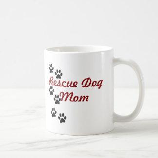 Rescue Dog Mom Basic White Mug