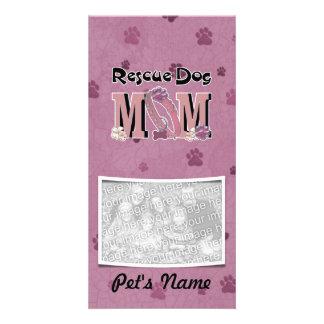 Rescue Dog MOM Photo Greeting Card