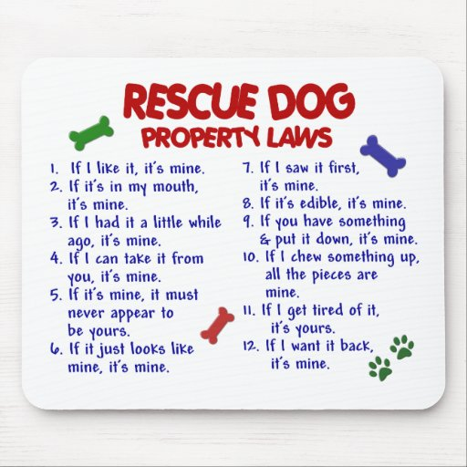 RESCUE DOG Property Laws 2 Mouse Mats