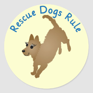 Rescue Dogs Rule v2 Sticker