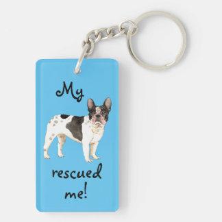 Rescue Frenchie Key Ring