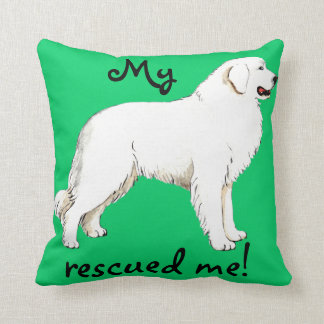 Rescue Great Pyrenees Cushion
