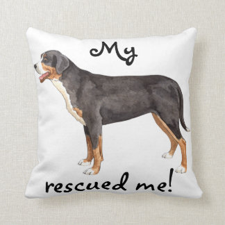 Rescue Greater Swiss Mountain Dog Throw Cushions
