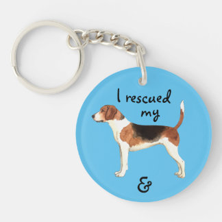 Rescue Harrier Double-Sided Round Acrylic Key Ring