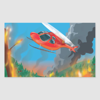 Rescue Helicopter Rectangular Sticker