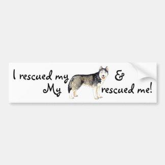 Rescue Husky Bumper Sticker