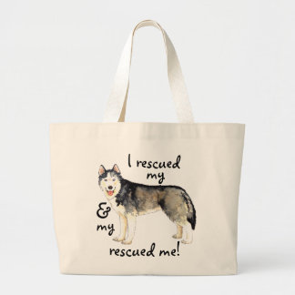 Rescue Husky Large Tote Bag