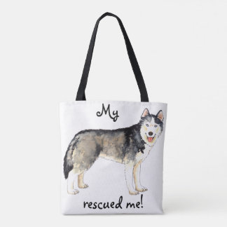 Rescue Husky Tote Bag