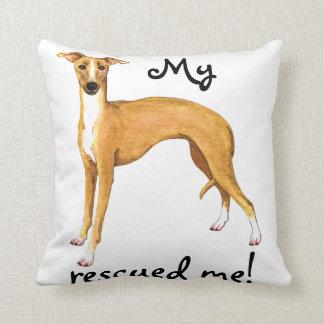 Rescue Italian Greyhound Cushion