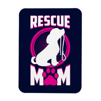 Rescue Mom Dog Rescue Magnet