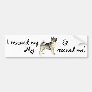 Rescue Norwegian Elkhound Bumper Sticker