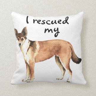 Rescue Norwegian Lundehund Throw Pillow